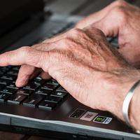 Old-hands-typing